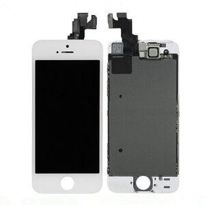 Apple Bílý LCD displej iPhone SE s přední kamerou + proximity senzor OEM (bez home button)