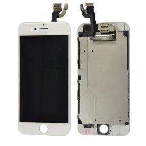Apple Bílý LCD displej iPhone 6 (s přední kamerou + proximity senzor OEM) - bez home button