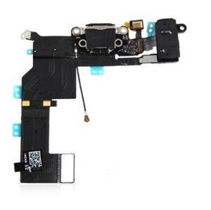 Apple iPhone 5S - Nabíjecí dock konektor - audio konektor kabel s mikrofonem (černý)