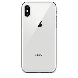 Apple iPhone X - Zadní sklo housingu + sklíčko zadní kamery - bílé