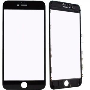 Oleofobní náhradní černé přední sklo s rámem na iPhone 6S Plus