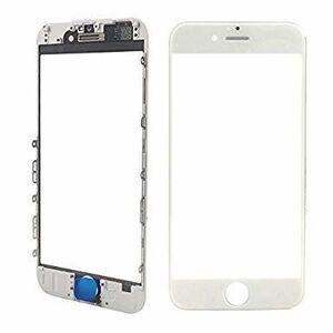 Oleofobní náhradní bílé přední sklo s rámem na iPhone 6 Plus