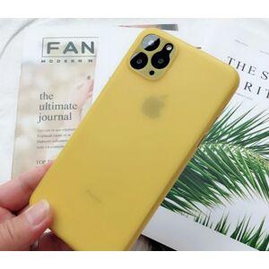 Ultratenký matný kryt iPhone 11 Pro žltý