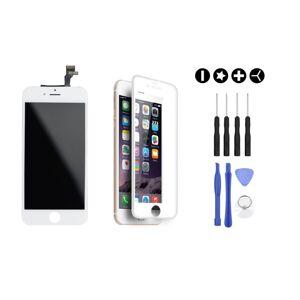MULTIPACK - Bílý LCD displej pro iPhone 6 Plus + 3D ochranné sklo + sada nářadí