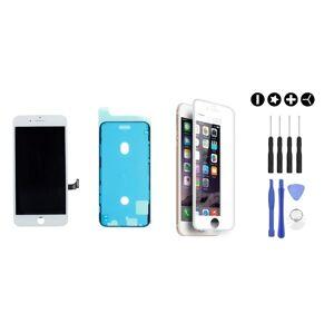 MULTIPACK - Bílý LCD displej pro iPhone 8 + LCD adhesive (lepka pod displej) + 3D ochranné sklo + sada nářadí