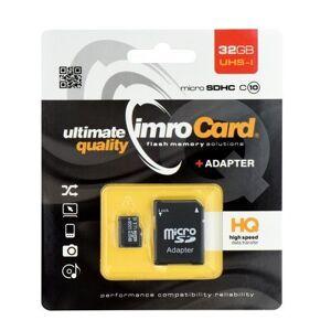 Toshiba Imro MicroSDHC Card 32GB 10 class + adapter SD