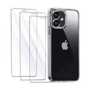 4PACK - 3x ochranné tvrzené sklo + průsvitný kryt - iPhone 11