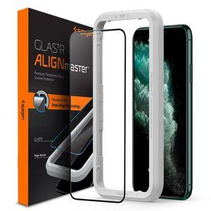 Spigen 3D ochranne sklo s inštalačním rámem - iPhone XS Max