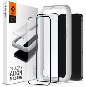 Spigen Align 3D ochranné sklo 2-Pack s inštalačním rámem - iPhone 12 Pro Max - 2ks v balení