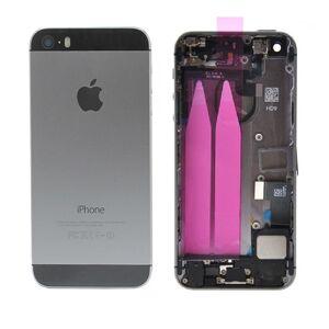 Apple iPhone 5S - Zadní kryt - šedý / space grey s malými díly