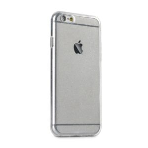 Back Case Ultra Slim 0,5mm GLITTER Case iPhone X / XS transparent
