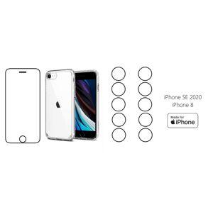 START PACK - hydrogel ochranná fólie + 10ks folie na zadní kameru + transparentní kryt pro iPhone 8/SE 2020