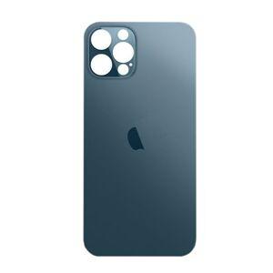 Apple iPhone 12 Pro Max - Sklo zadního housingu se zvětšeným otvorem na kameru BIG HOLE - modré