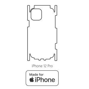 Hydrogel - matná zadní ochranná fólie (full cover) - iPhone 12 Pro - typ 4