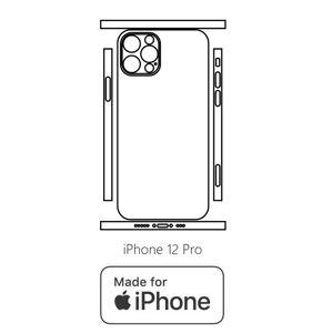 Hydrogel - matná zadní ochranná fólie (full cover) - iPhone 12 Pro - typ 6