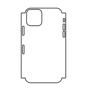 Hydrogel - matná zadní ochranná fólie (full cover) - iPhone 11 Pro Max - typ 6