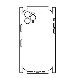 Hydrogel - matná zadní ochranná fólie (full cover) - iPhone 11 Pro Max - typ 3