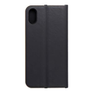 Forcell LUNA Book Gold for iPhone X black