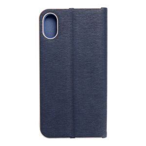 Forcell LUNA Book Gold for iPhone X navy blue