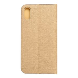 Forcell LUNA Book Gold for iPhone X gold