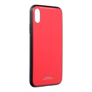 """GLASS Case  iPhone XS ( 5,8"""" ) červený"""