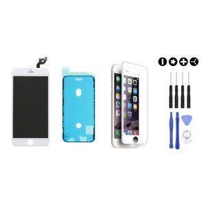 MULTIPACK - ORIGINAL Bílý LCD displej pro iPhone 6S Plus + LCD adhesive (lepka pod displej) + 3D ochranné sklo + sada nářadí