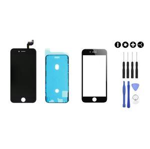 MULTIPACK - ORIGINAL Černý LCD displej pro iPhone 6S Plus + LCD adhesive (lepka pod displej) + 3D ochranné sklo + sada nářadí