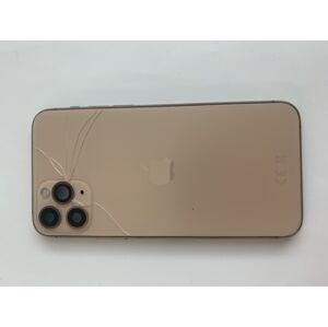 SLEVA - Apple iPhone 11 Pro - Housing (Gold - zlatý) s předinstalovanými díly - ROZBITE SKLICKO