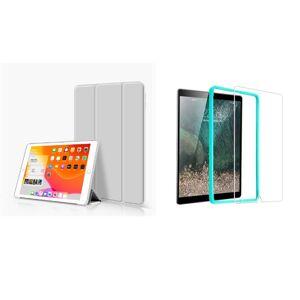 Trifold Smart Case - kryt se stojánkem pro iPad Pro 10.5/iPad 2019 Air 3 10.5 - černý + Ochranné tvrzené sklo s instalačním rámečkem