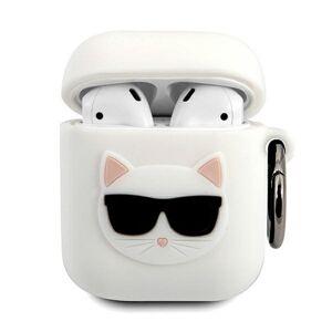 Original   KARL LAGERFELD KLACA2SILCHWH  Apple Airpods bílý
