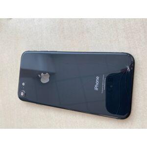 SLEVA - Apple iPhone 8 - Zadní Housing - černý s instalovanými dily - ROZBITE SKLO