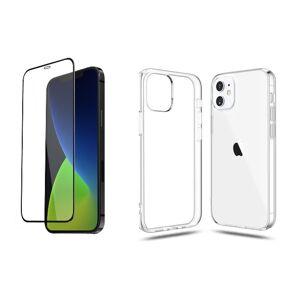 2PACK - 3D ochranné sklo + transparentní kryt pro iPhone 12
