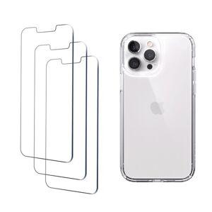 4PACK - 3x ochranné tvrzené sklo + průsvitný kryt - iPhone 13 Pro